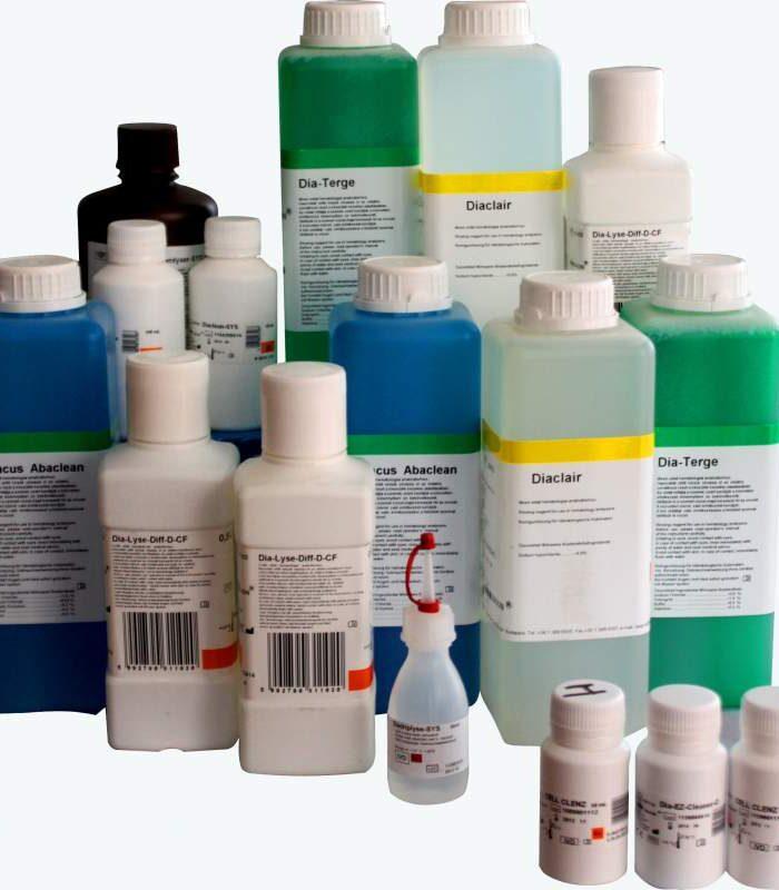 Реактиви та контрольні матеріали для аналізаторів